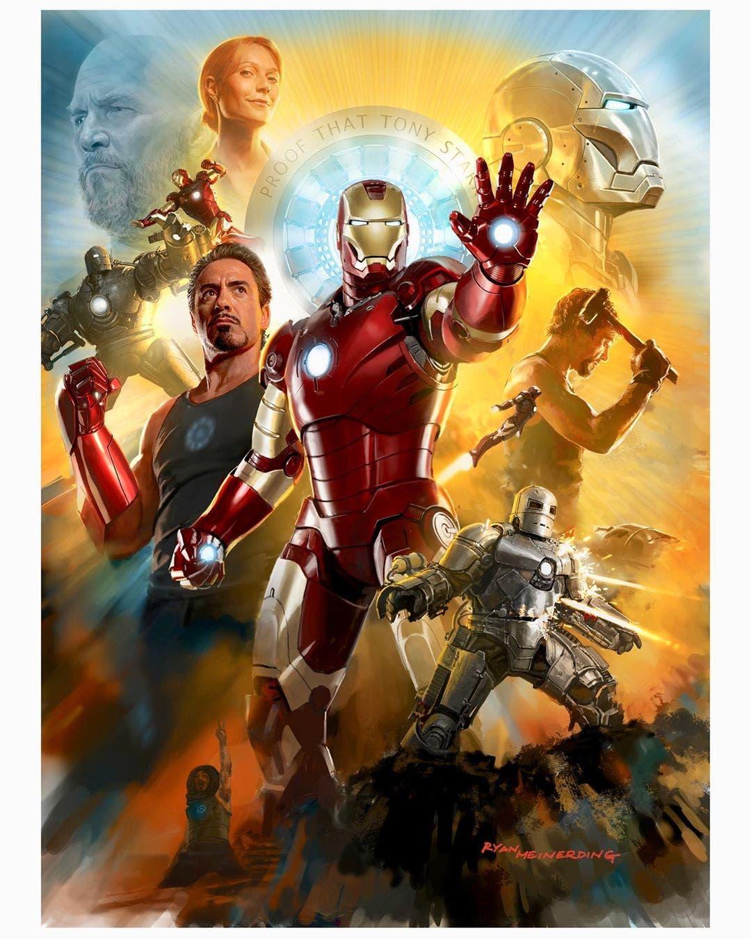 ryan meinerding art Homenaje Iron Man