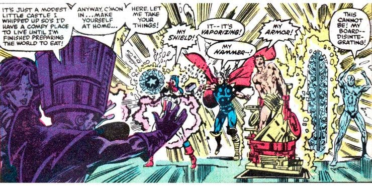 Molecule Man Destroys Captain-America Shield