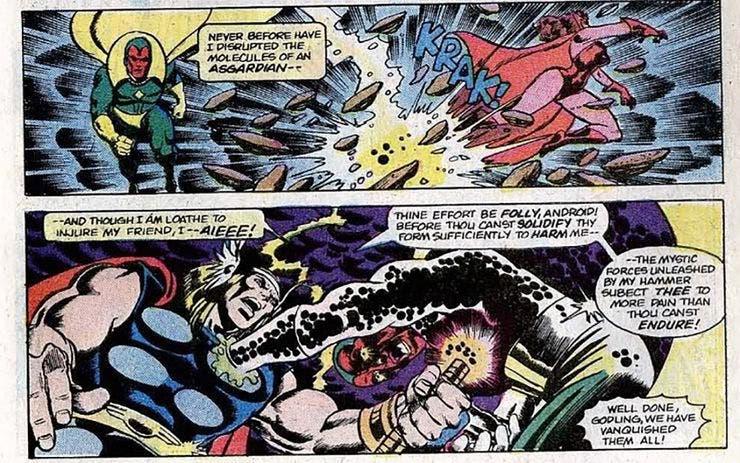 Thor vs vision