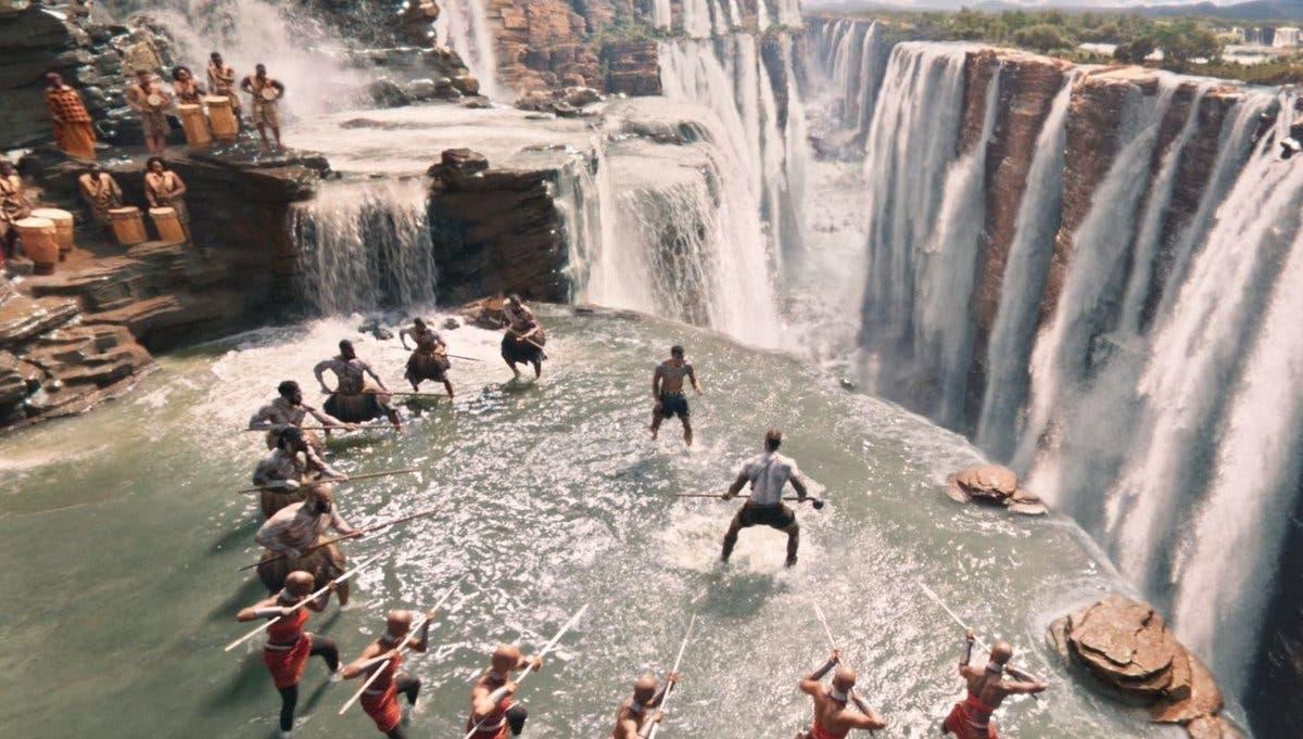 Warriors falls de Black Panther en e Universo cinematográfico de Marvel son las cataratas del Iguazú