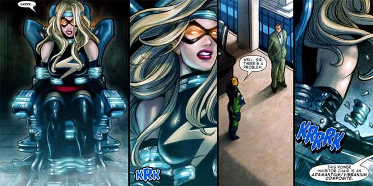 Capitana Marvel es tan fuerte que puede romper el Adamantium
