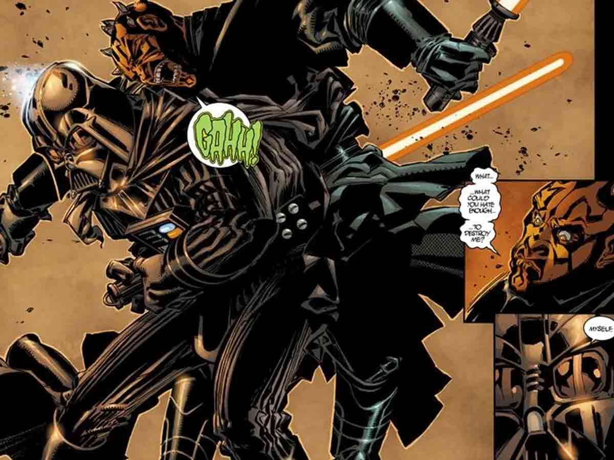 Darth Vader originalmente mató a Darth Maul