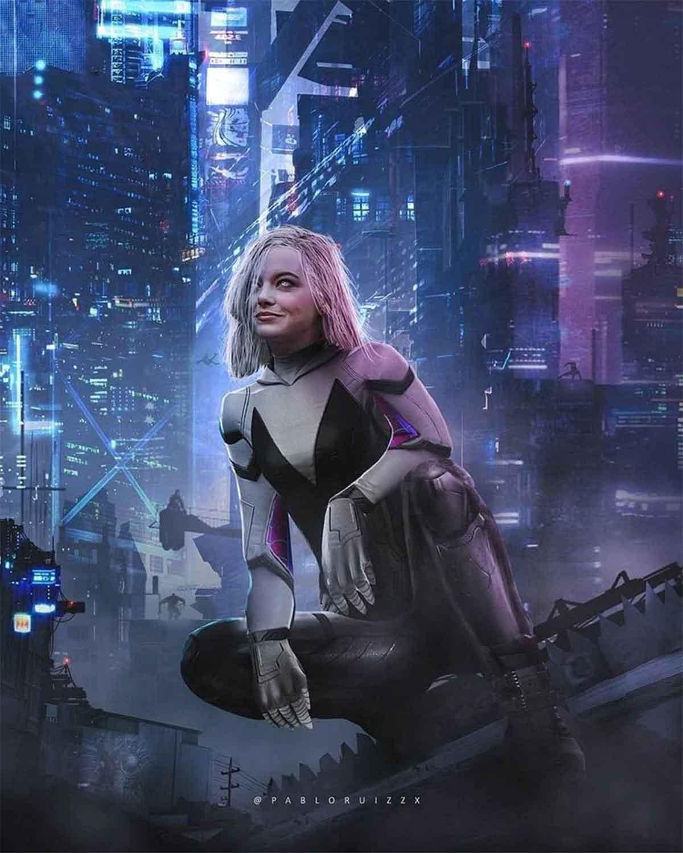 Espectacular Fan Art de Emma Stone como Spider-Gwen