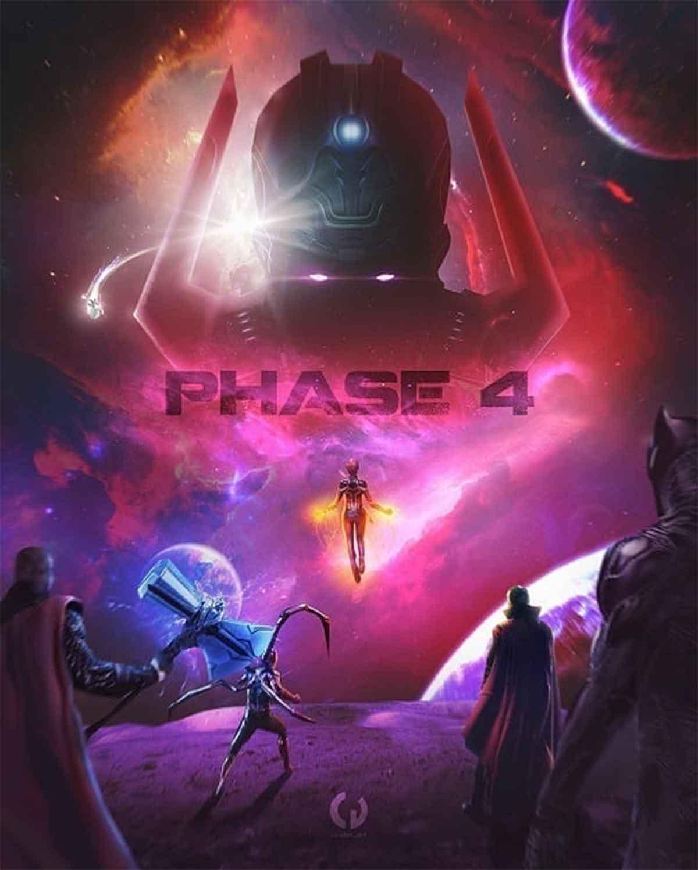Espectacular Fan Art de Galactus como gran villano de la Fase 4 de Marvel