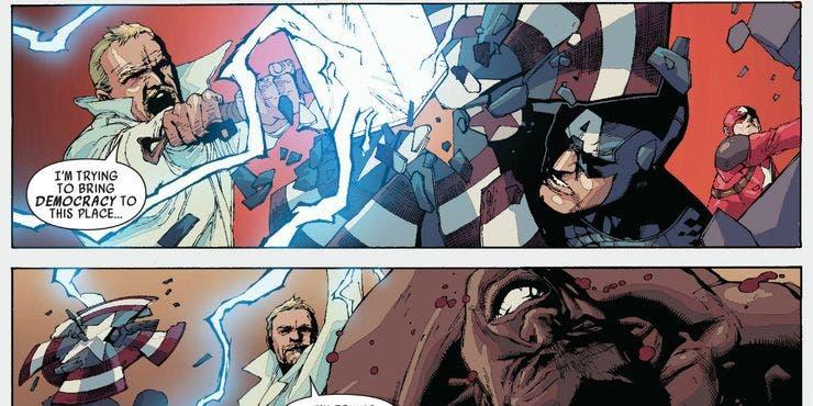 gregory stark destruyo el escudo del Capitán América