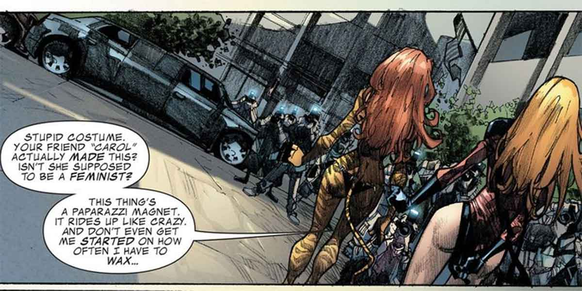 Marvel admite que el primer traje de la Capitana Marvel era ridículo