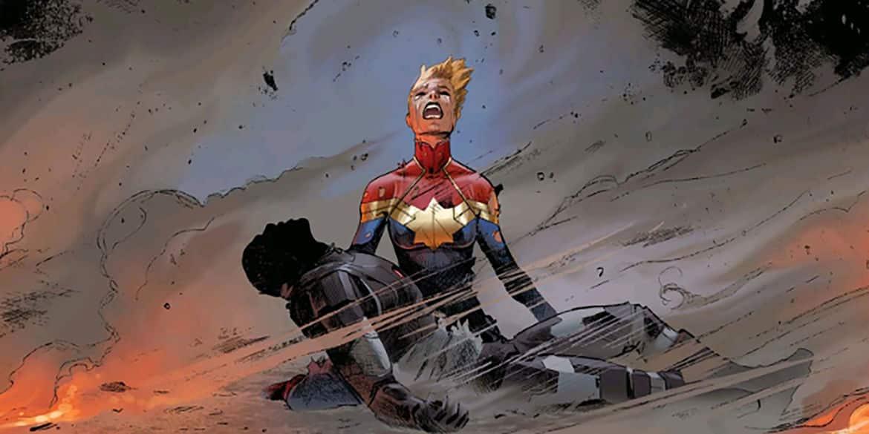 muerte de iron man a manos de Carol Danvers