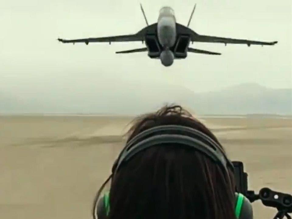 Impactante video de como han rodado Top Gun: Maverick