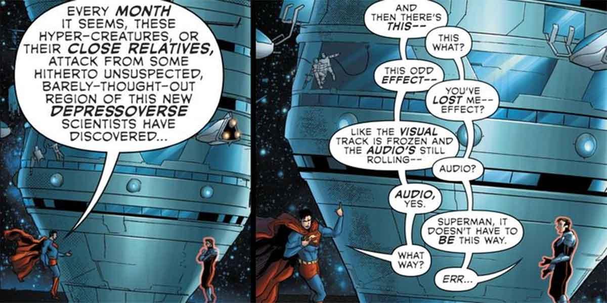 Superman rompe toda la ficción de los cómics con una broma
