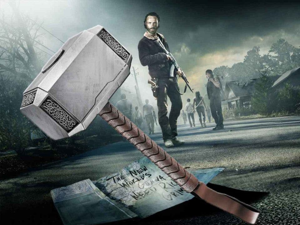 The Walking Dead tiene una referencia secreta al martillo de Thor