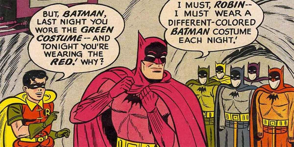 Explicación al traje color arcoíris de Batman