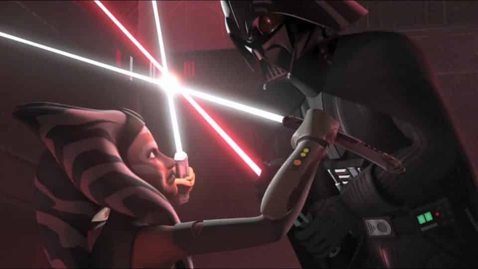 ahsoka vs vader rebels