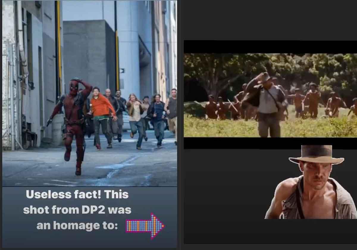 Ryan Reynolds revela homenaje de Deadpool 2 a Indiana Jones