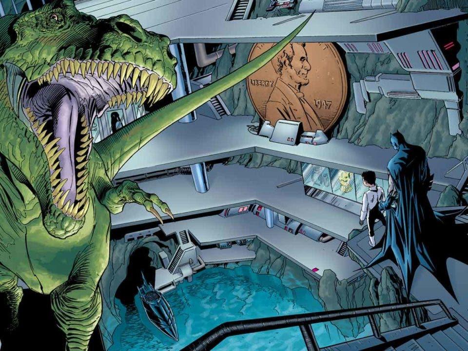 ¿Por qué tiene Batman un dinosaurio en la Bat-cueva?