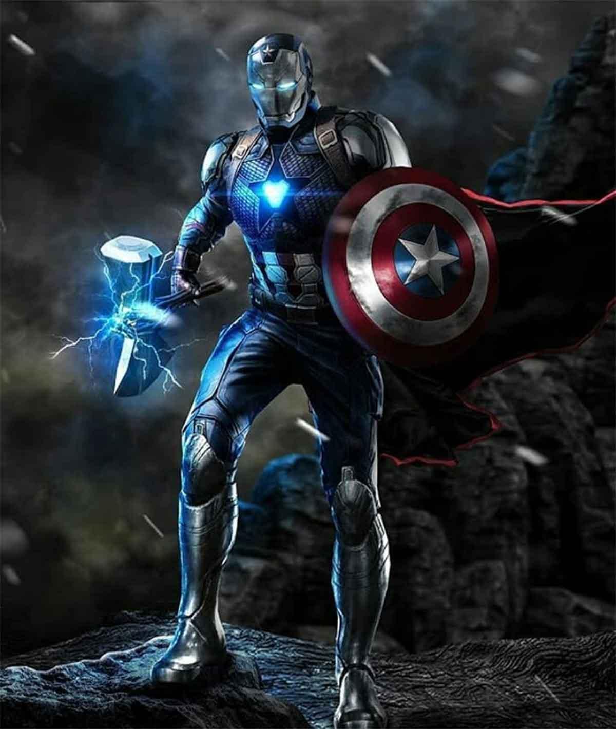 Espectacular Fan Art de Iron Man, Capitán América y Thor combinados