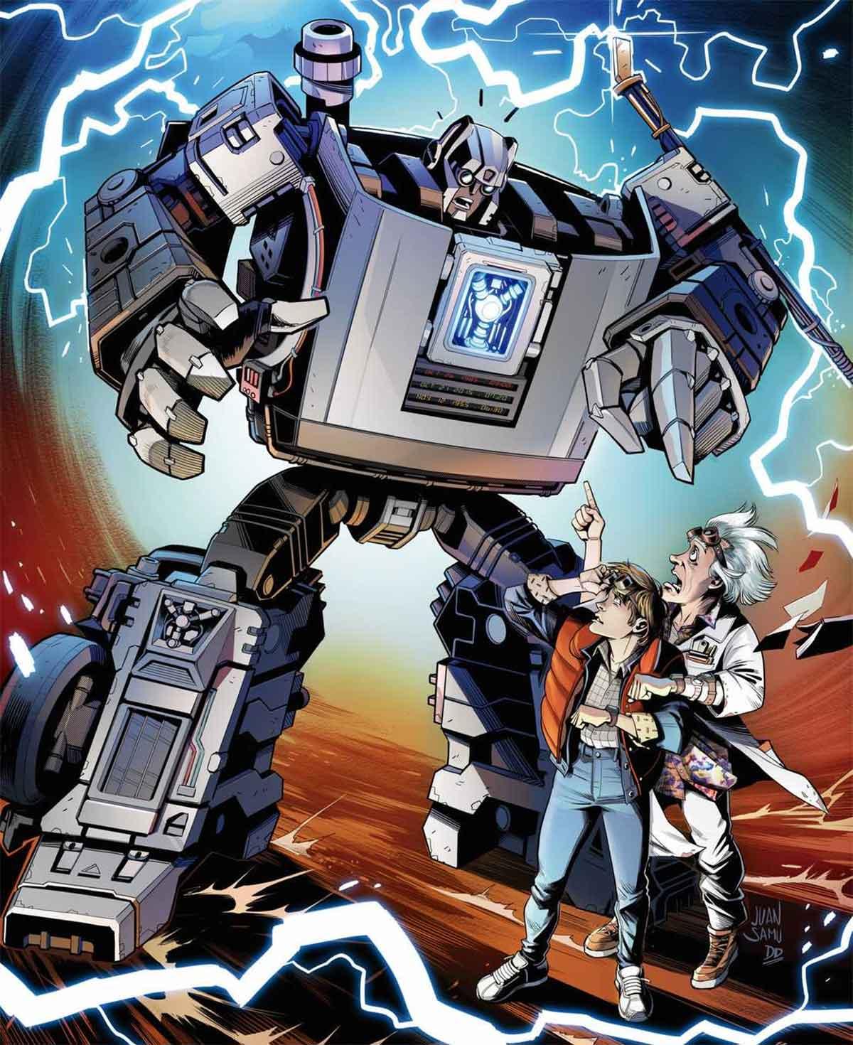 Regreso al futuro conoce a los Transformers en épico crossover