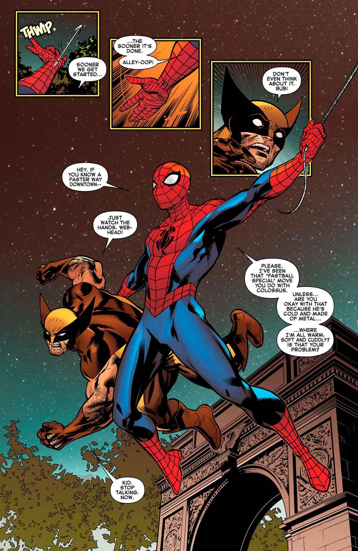 spiderman y lobezno