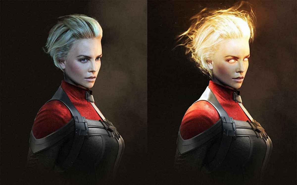 Espectacular Fan Art de Charlize Theron como Capitana Marvel