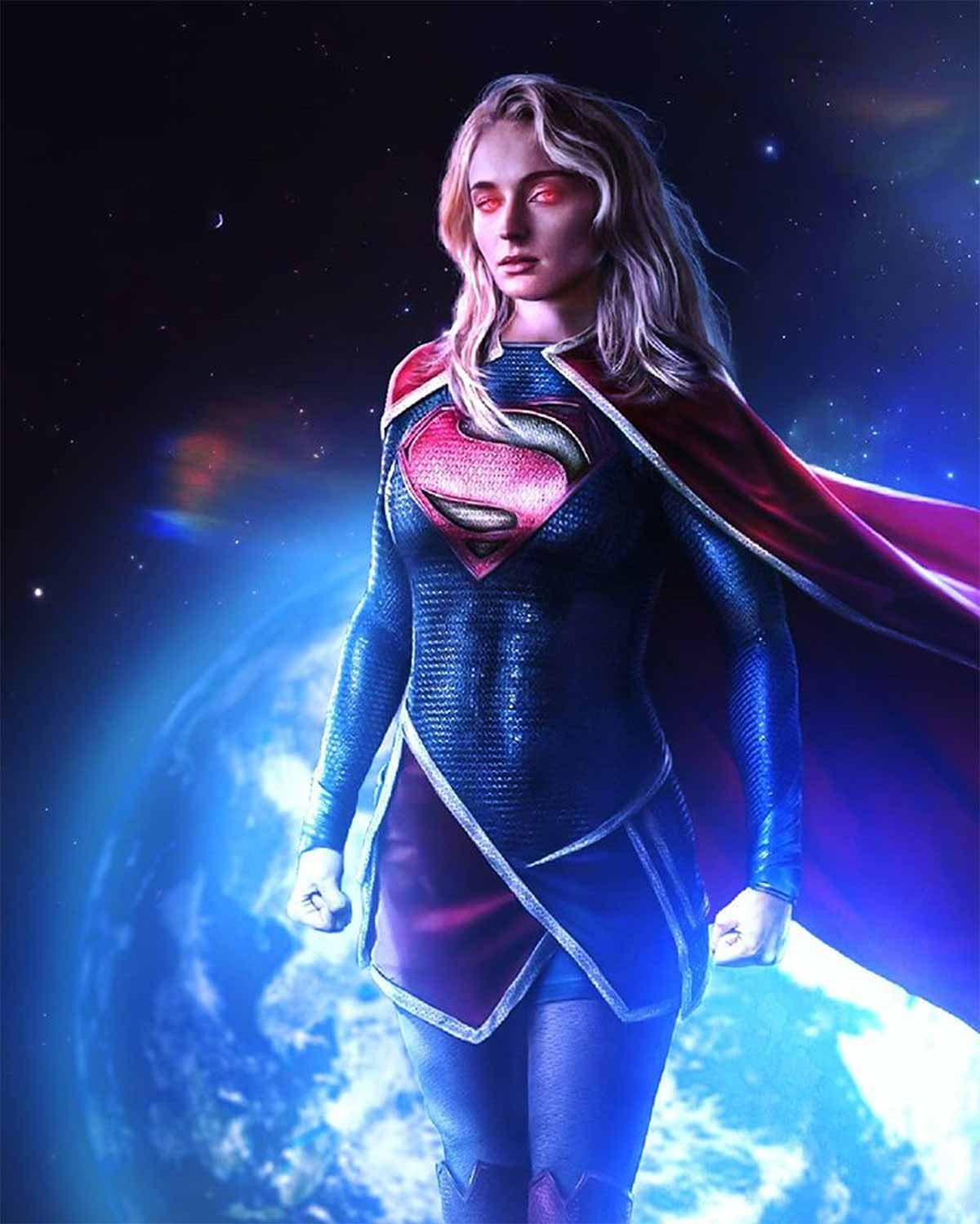 Fan Art de Sophie Turner como Supergirl