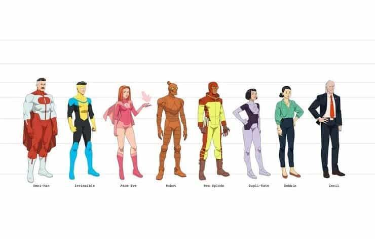 Amazon revela los diseños de personajes para la serie animada de Invencible