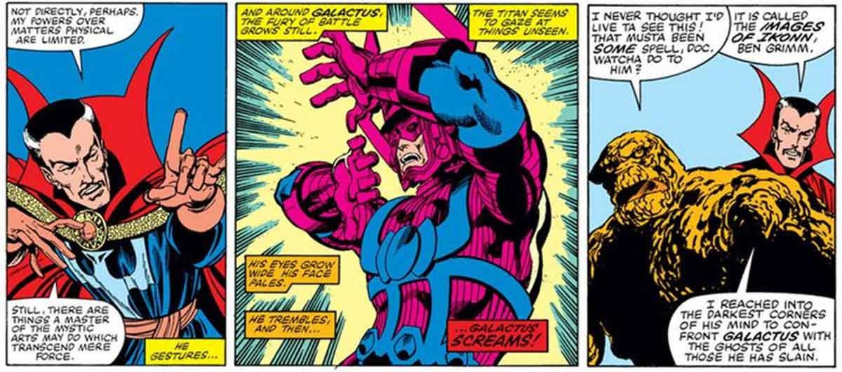 Doctor Strange robo el poder a otro superhéroe para vencer a Galactus