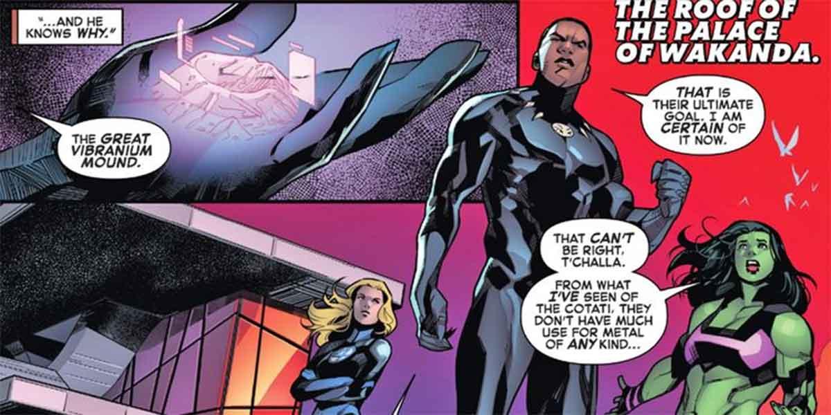 Marvel revela que la Tierra y Wakanda son el centro de la guerra cósmica