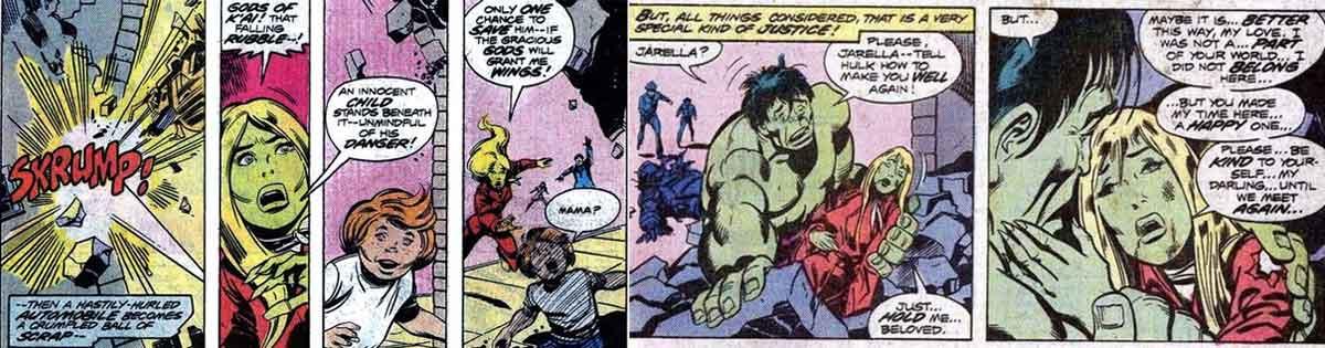 La verdadera historia de amor de Hulk se arruinó por un error de Marvel