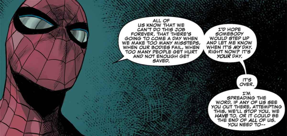 Daredevil le da una lección de responsabilidad a Spider-Man