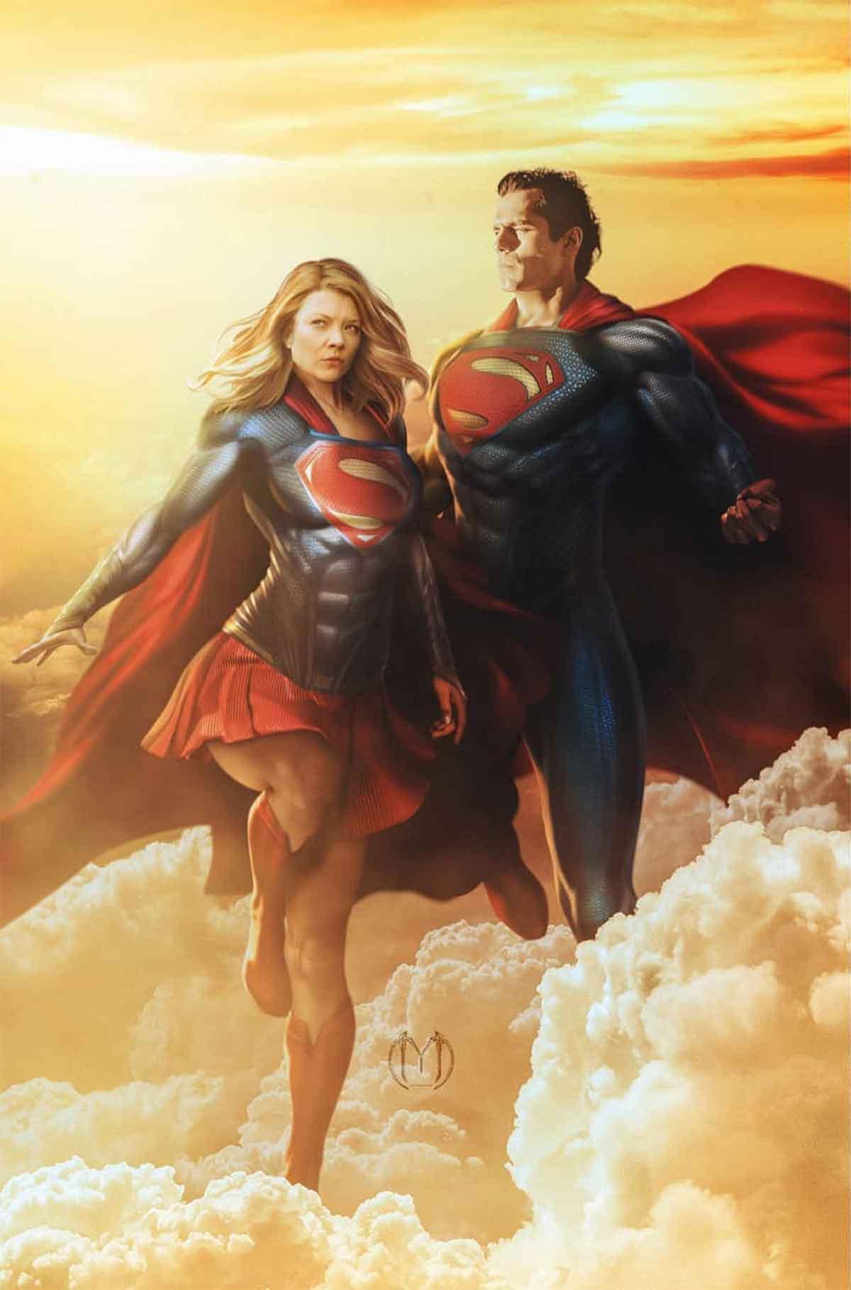 Espectacular Fan Art de Natalie Dormer como Supergirl