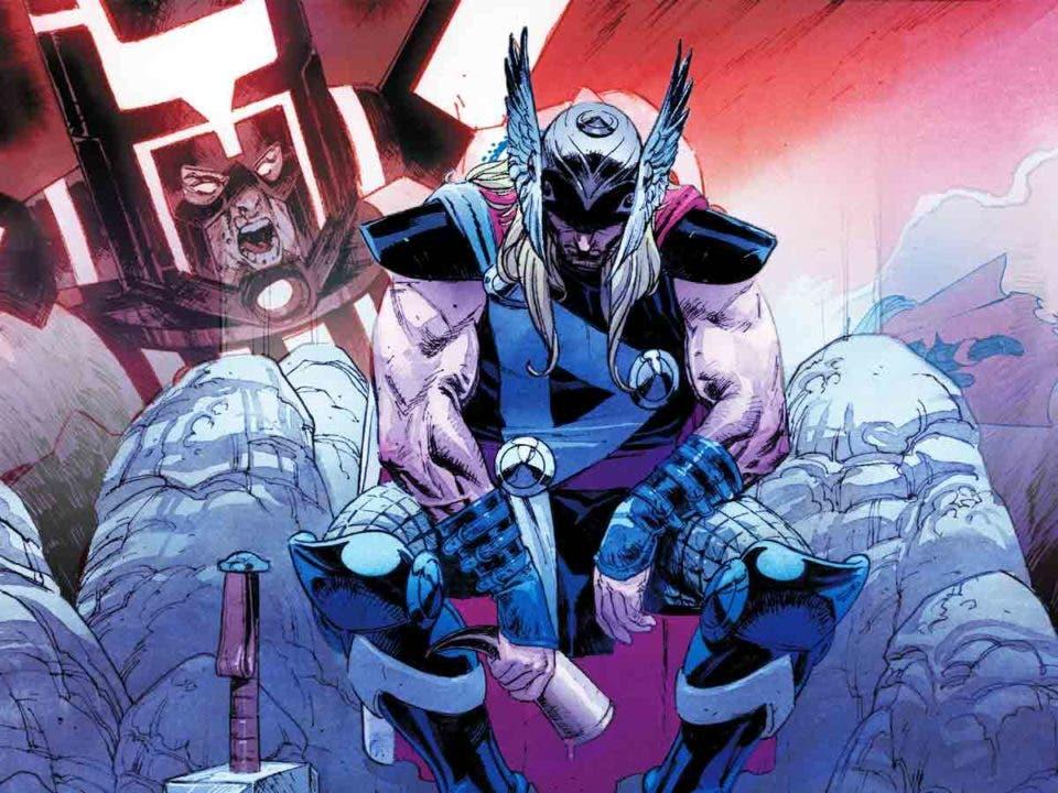Thor destroza a Galactus en una épica batalla