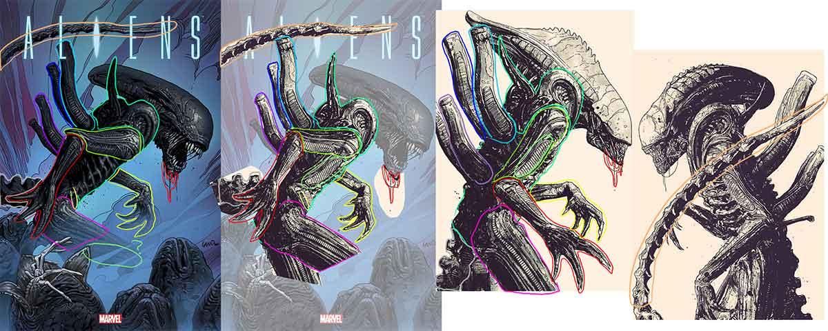Acusan a Marvel de copiar una aportada de Alien
