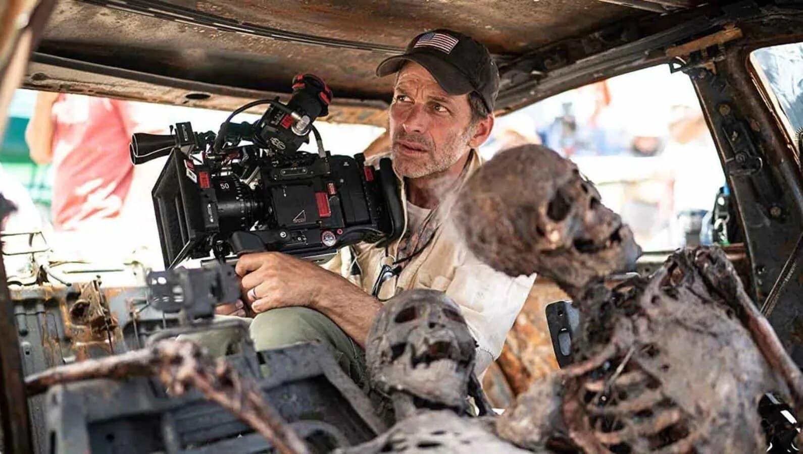 Zack Snyder dirigiendo Army of the dead