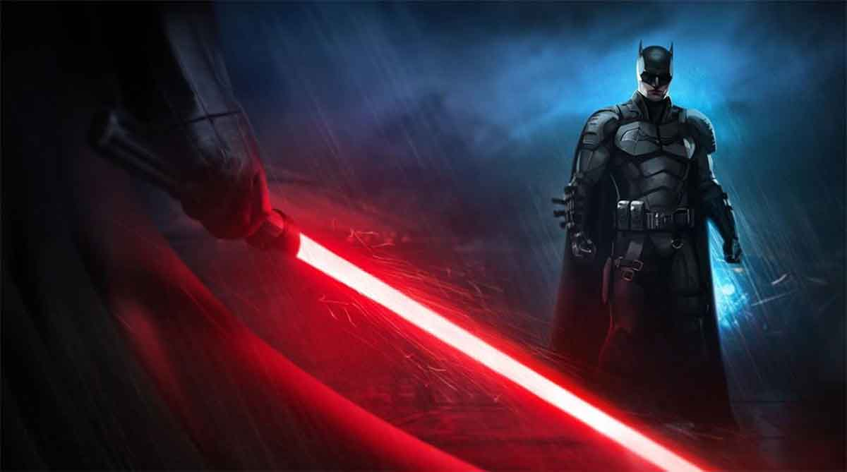 Espectacular Fan Art de Darth Vader enfrentándose a Batman de Robert Pattinson
