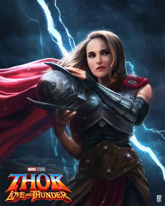 Espectacular Fan Art de Natalie Portman como la nueva Thor de Marvel