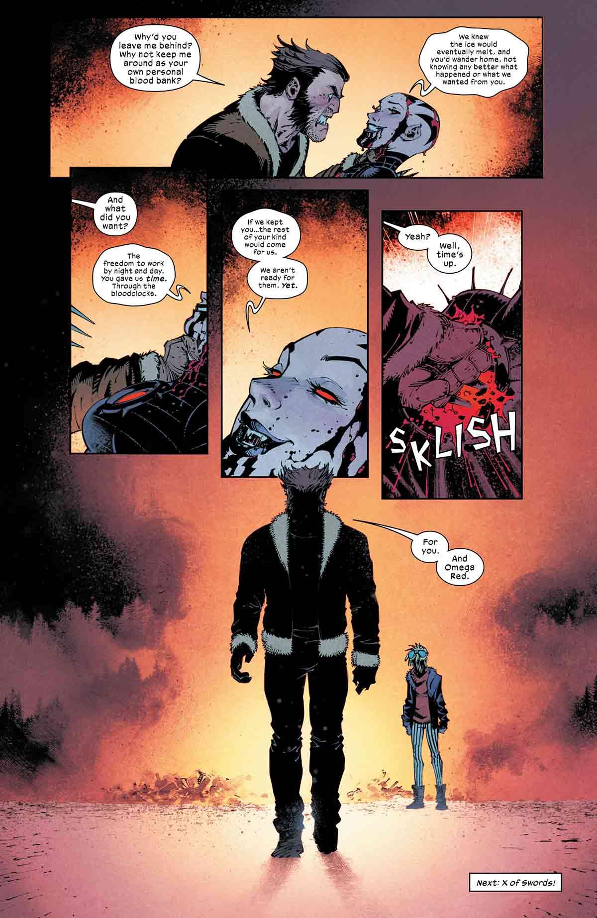 Wolverine le demuestra su brutalidad a Drácula