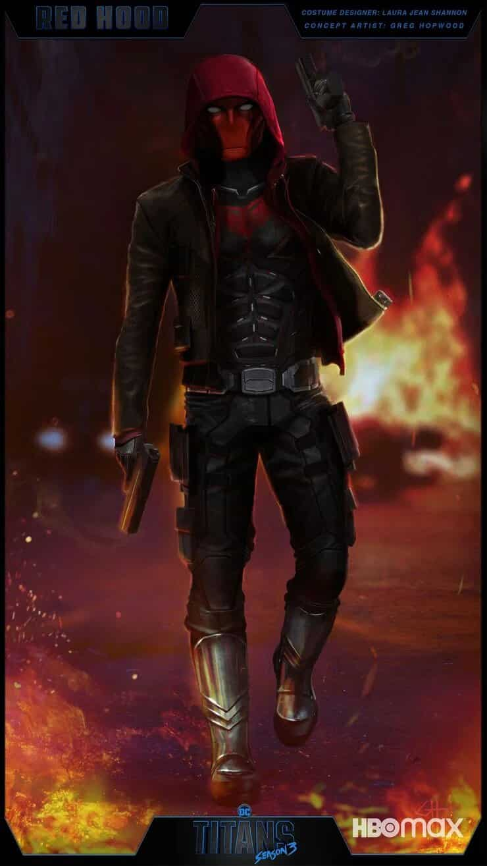 Titans concept art Red Hood