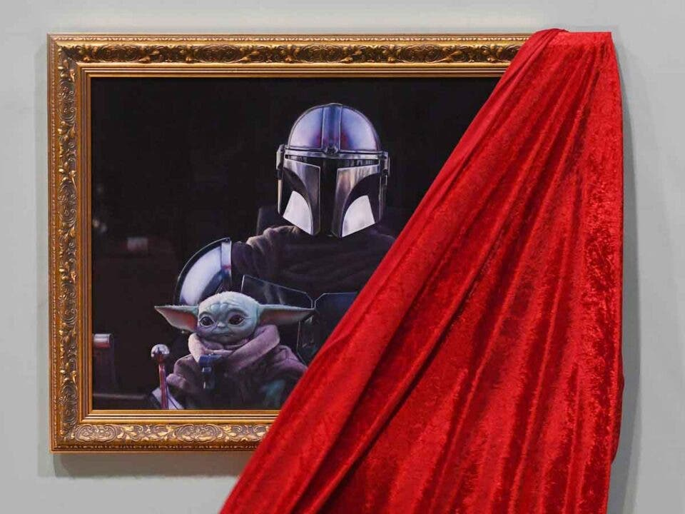 The Mandalorian y Baby Yoda llegan al National Portrait Gallery