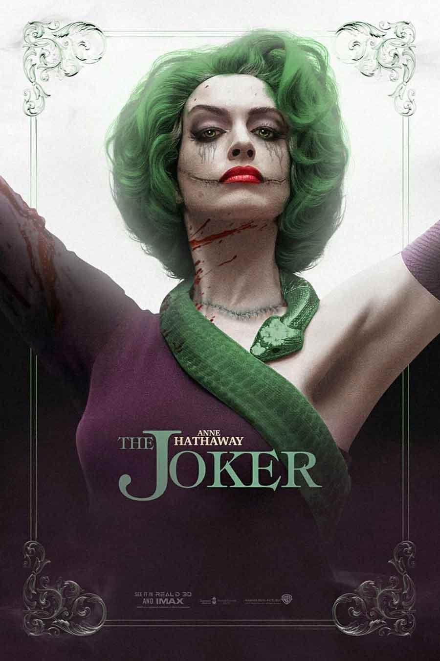 Así se vería Anne Hathaway como el JOKER