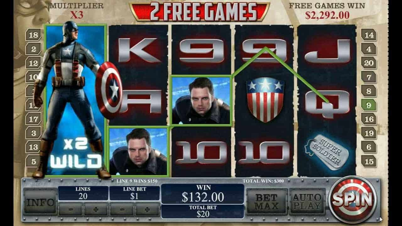 Marvel captain america slots