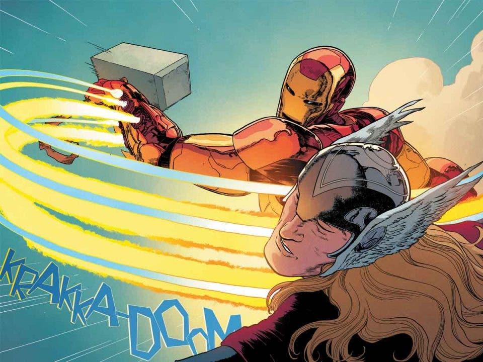 Iron Man y Thor inician un guerra con el martillo Mjölnir