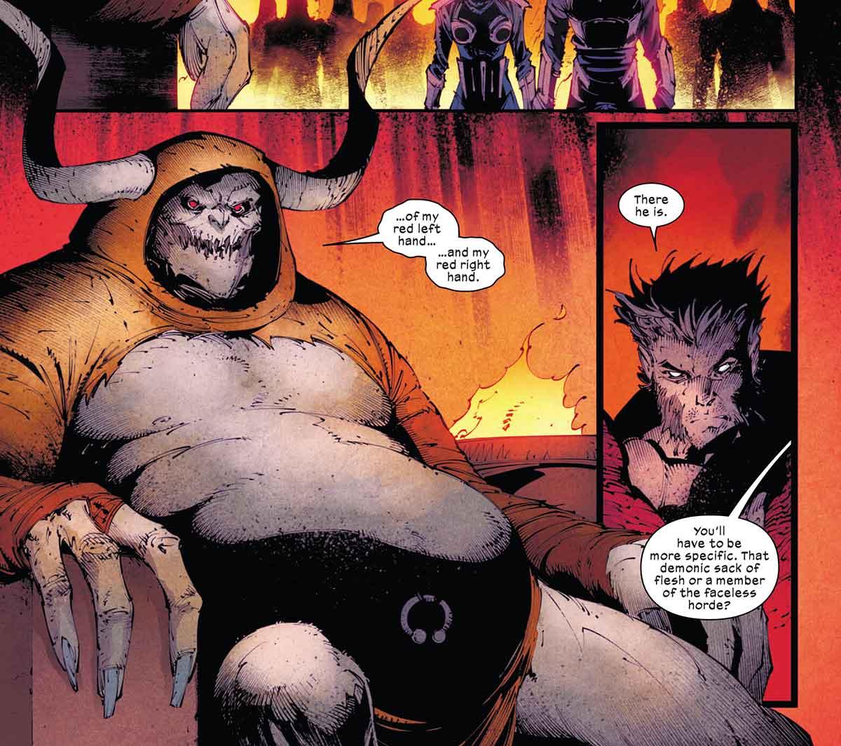 Cuando Wolverine se dirige al infierno en busca de la espada de Muramasa se encuentra que un viejo enemigo de Daredevil bloquea su camino.