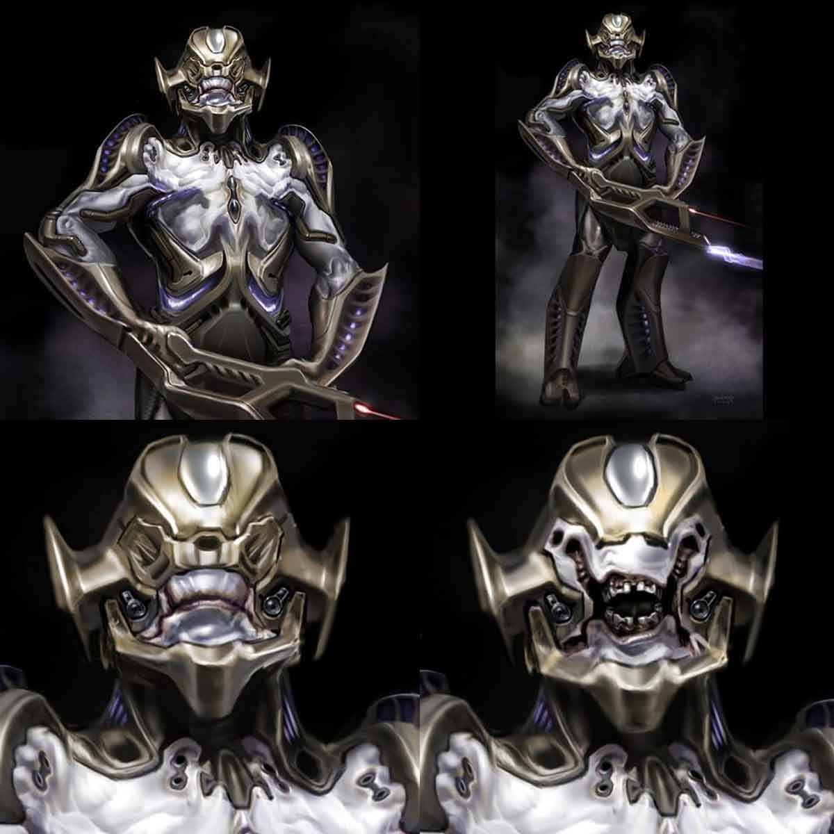 Diseño alternativo de los Chitauri de la película Los Vengadores (2012)