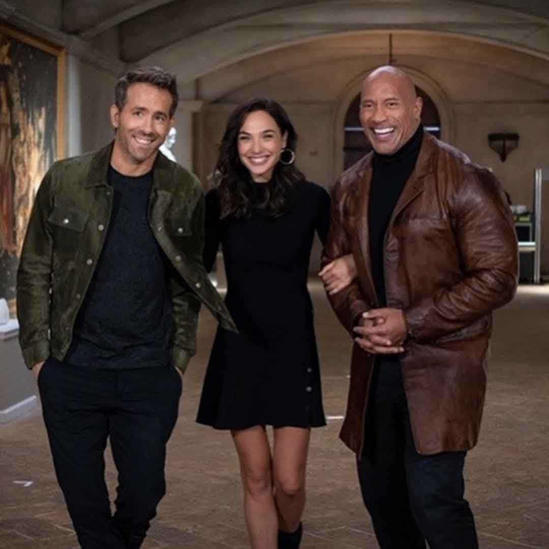 Gal Gadot, Ryan Reynolds y Dwayne Johnson