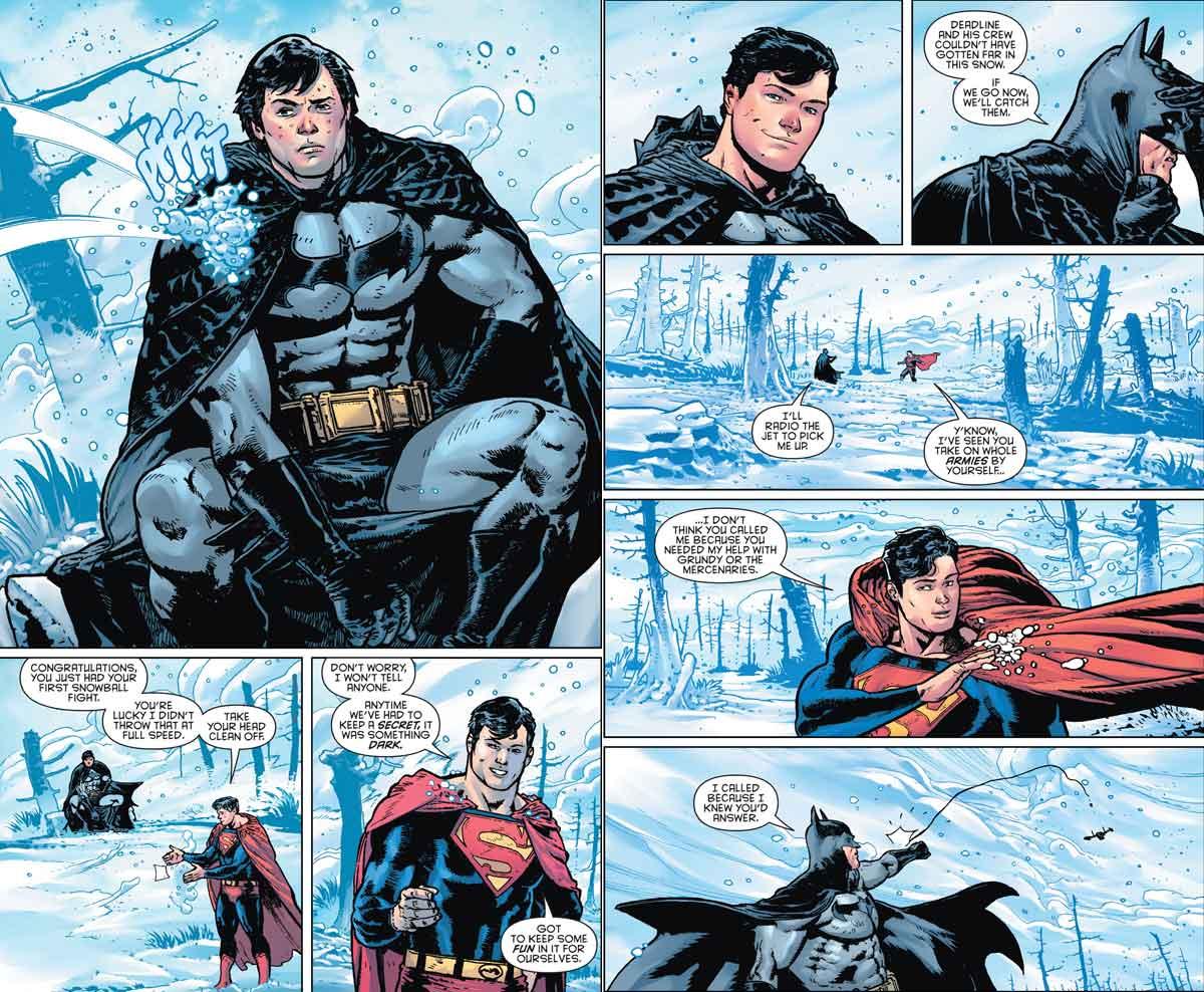 Superman demuestra que sabe hacer reír a Batman