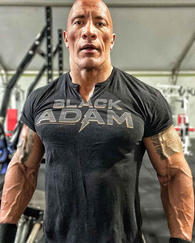 Dwayne Johnson entrena duro para la película Black Adam