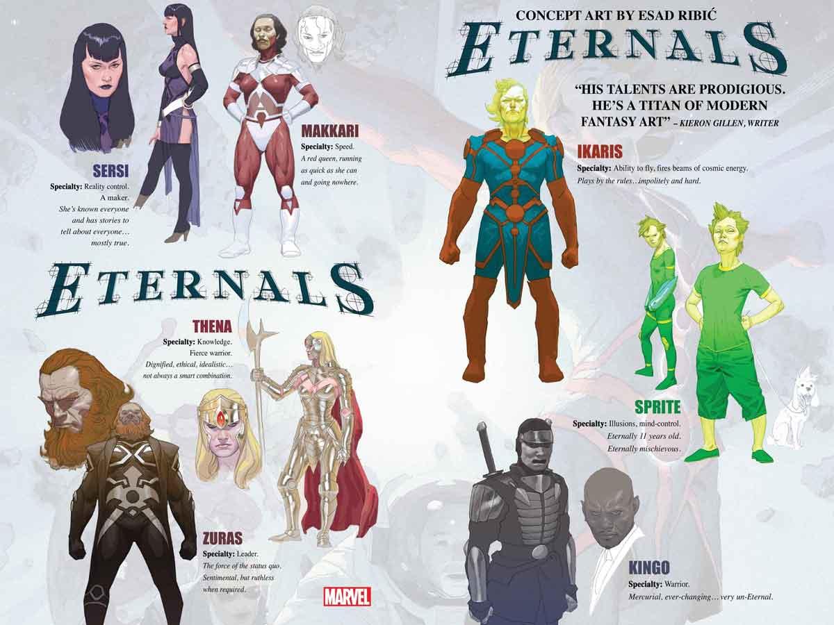 Marvel revela el gran reinicio de Los Eternos