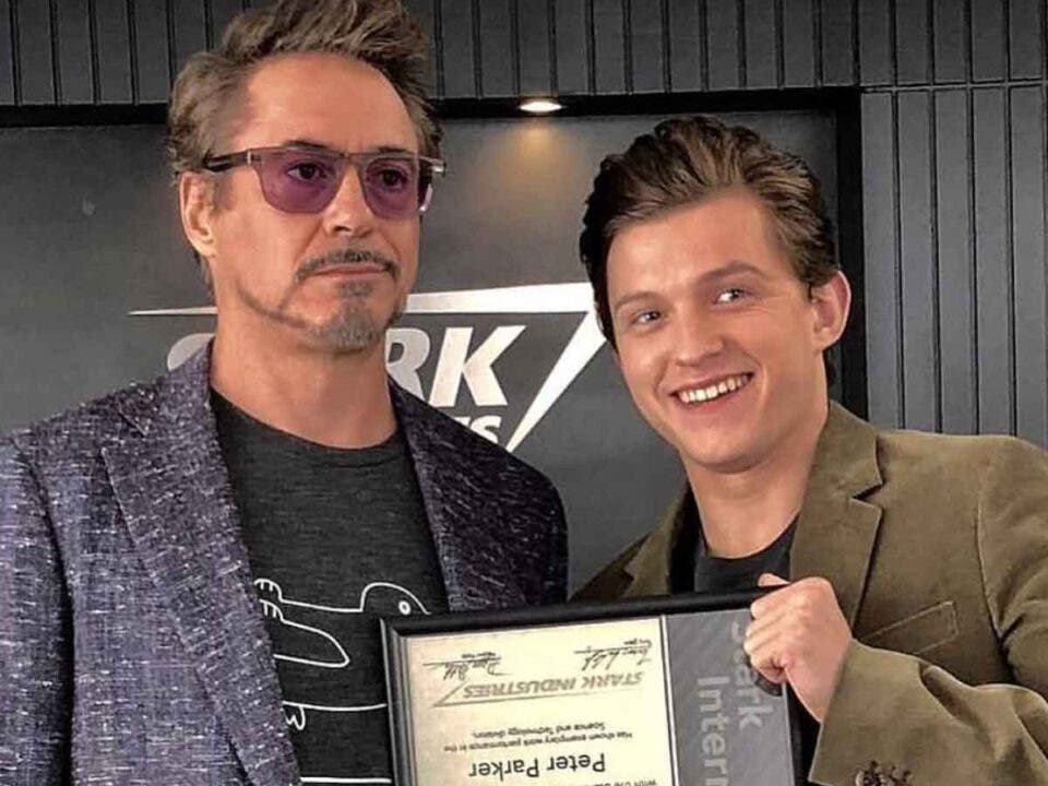 Robert Downey Jr y Tom Holland