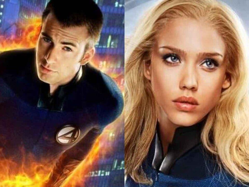 Chris Evans y Jessica Alba podrían volver a una película de Marvel