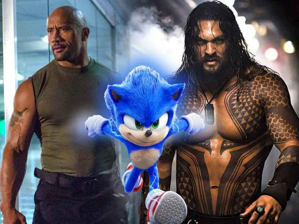 Jason Momoa y Dwayne Johnson luchan por un papel en Sonic 2