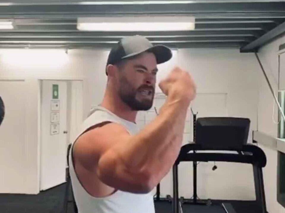 Vídeo del brutal entrenamiento de Chris Hemsworth para Thor 4